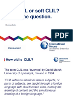 Hard CLIL or Soft CLIL-That is the Question
