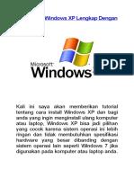 Cara Install Windows XP Lengkap Dengan G