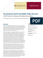 Paper Lte Personalized Volte RADISYS