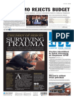 Asbury Park Press front page Wednesday, April 20 2016
