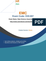 ExamsBoost E20-007 Latest Certification Test