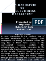 A SEMINAR REPORT ON SMALL BUISENESS MANAGEMENT