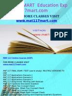 MAT 117 MART Education Expert-mat117mart.com
