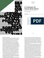 A Challenge for Puerto Rican Music-Bomba-Halbert Barton