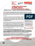 2228056-Comunicado en Abril-Mayo Abono Del 50% de La Paga Extra en Correos