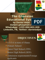 The Ghanaian Educational System