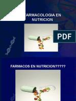 Sesion i. Farmacologia en Nutricion