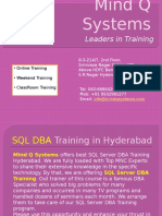 SQl DBA Training in Hyderabad