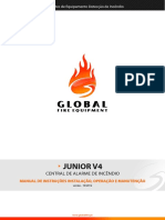 Central Incêndio Global Ezalpha JUNIOR-V4 Installation Manual (PT)