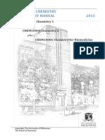 CHEM10003, 10004 and 10006 Lab Manual 2015