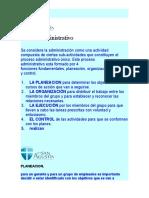 Proceso Administrativo Administracion
