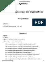 Structure Et Dynamique Des Organisations