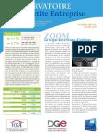 Observatoire de la petite entreprise n° 60 FCGA - Banque Populaire