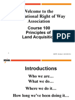 Principles of Land Acquisition