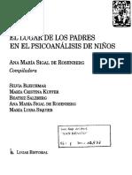 El Lugar de Los Padres en El Psicoanálisis de Niños (Sigal de Rosenberg) Pp. 19-49