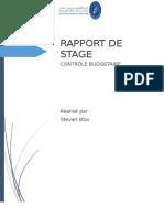 Rapport de Stage-contrôle Budgétaire