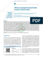 The Antiplaque Efficacy of Propolis-based Herbal Toothpaste a Crossover Clinical Study
