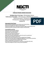 Technical Theater Assessment Blueprint