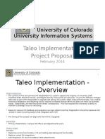 Taleo Implementation Proposal.pptx