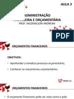 Administração Financeira e Orçamentária - AULA AO VIVO 3