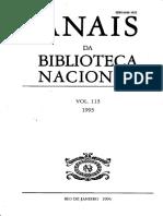 Anais - Biblioteca Nacional N 113 - 1993