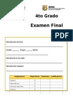 Examen Final Cuarto Grado