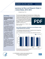 Changes in Life Expectancy by Race and Hispanic Origin in the United States, 2013–2014