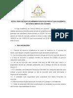 EDITAL 3º Processo Seletivo - LACMe (II)