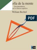 William Bechtel. Filosofía de La Mente