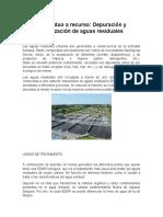 Depuración y reutilización de aguas residuales