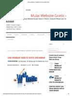 Cara Membuat Website Gratis Dan Mudah