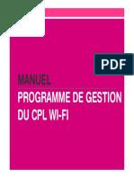Manuel Programme Gestion CPL Wi Fi