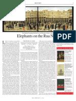 Elephants on the Rua Nova