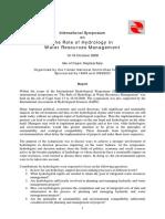 Report Capri Symposium