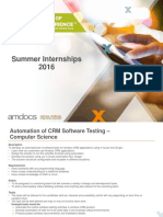 AMDOCS_2016 Summer Internships