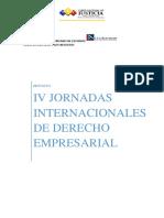 IV Jornadas Internacionales de Derecho Empresarial, Sede Ecuador