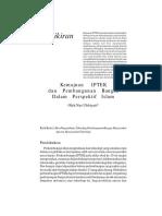 Kemajuan IPTEK Dan Pembangunan Bangsa Dalam Perspektif Islam