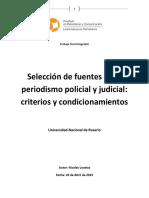 Selección de fuentes en el periodismo policial y judicial
