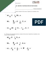 Prueba de Adición y Sustracción de Fracciones 6