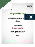 Participación Política de Las Mujeres en México. Avances y Retos.