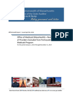 Audit Report - Office of Medicaid (MassHealth)—Review of Providers Exclu...