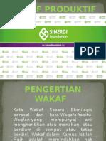Lembaga Pengelolaan Wakaf, Wakaf Produktif, Wakaf Tunai