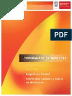 Programa Patrimonio Cultural y Natural de Michoacan