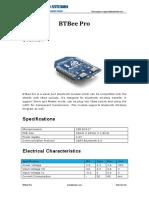 Datasheet Bluetooth Bee Pro