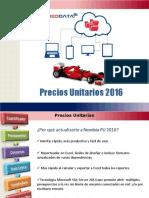 PRECIOS UNITARIOS 2016