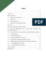 ABUSO DE LA PERSONALIDAD JURICA Y SITUACION ACTUAL DE LA PERSONALIDAD JURIDICA