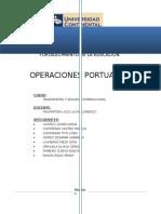 Trabajo Operaciones Portuarias