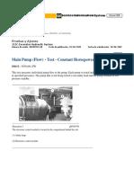 28. Main Pump (Flow) - Test - Constant Horsepower Flow Control