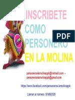 INSCRIPCION DE PERSONEROS EN LA MOLINA