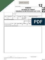 Anexo de Formulario Informe de Dominio NO Matriculado